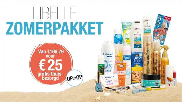 Libelle Zomerpakket gevuld met zomerse beautyproducten voor € 25 @ Libelle