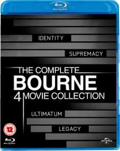 The Complete Bourne Movie Collection boxset (Blu-ray) (4 films) voor €11,38 @ Zavvi