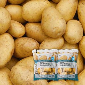 2 zakken van 3 kilo aardappelen voor   €2,19 @ AH