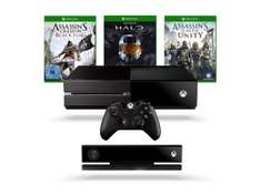 Xbox One + Kinect + Assassin's Creed Unity en Black Flag  + Halo - The Master Chief Collection voor €507,39 @ Amazon.de