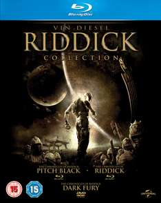 The Riddick Collection - 3 Blu-rays voor € 11,25 @ Zavvi