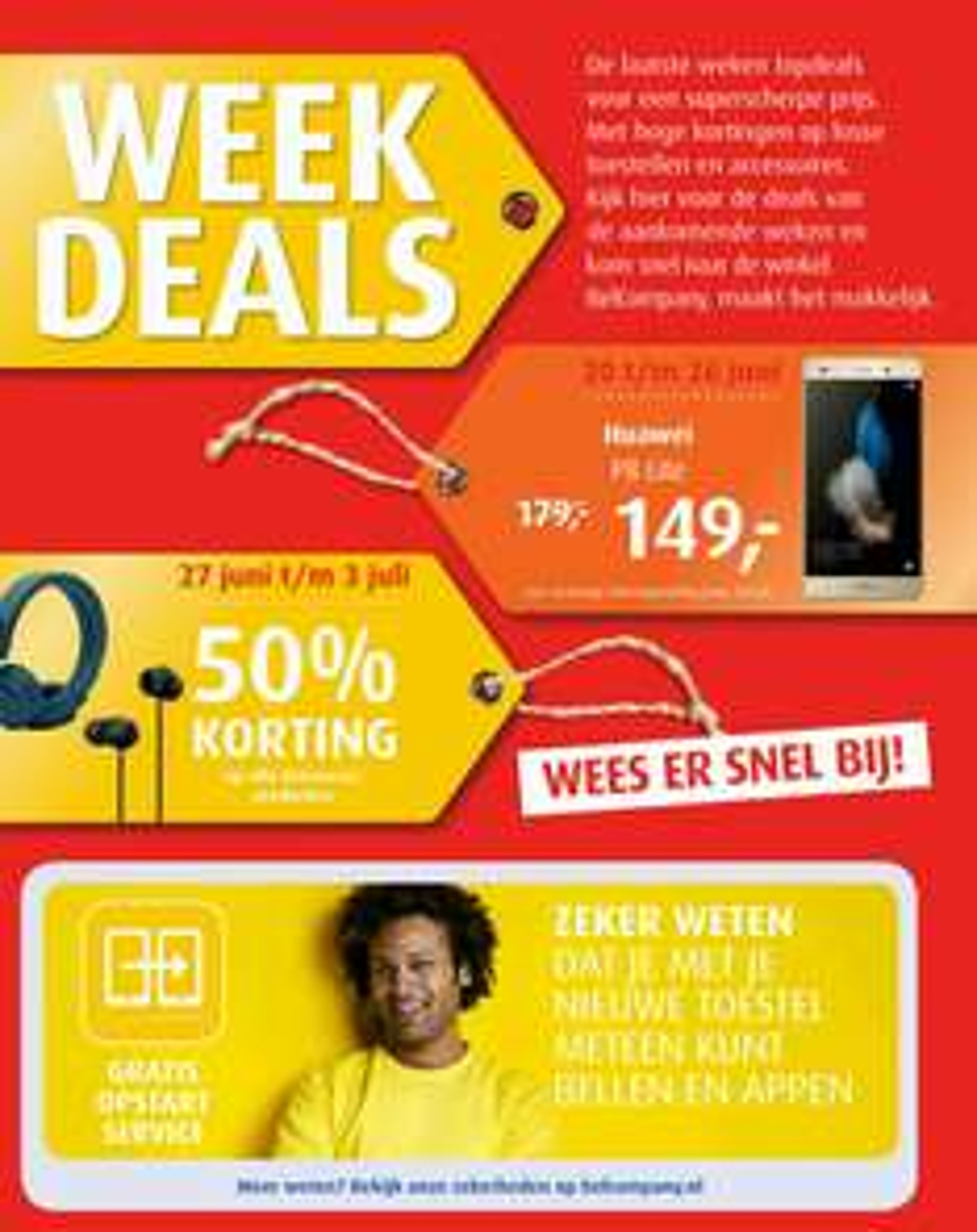 WeekDeals (Huawei P8 Lite - €149) @ Belcompany