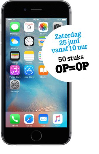Gratis iPhone 6s ALLEEN IN HAARLEM i.c.m. 22 per maand abonnement