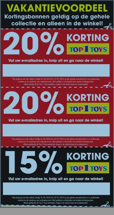 20% en 15% korting bij Top 1 Toys @ Top 1 Toys