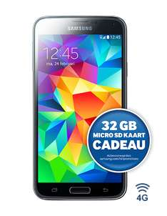 Hoge korting op Samsung Galaxy S5 i.c.m. abonnement @Typhone