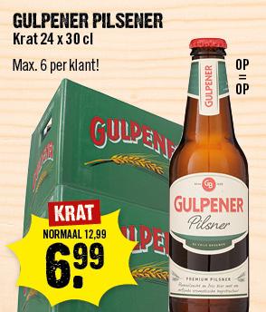 Krat Gulpener Pils voor 6,99 @ DirckIII