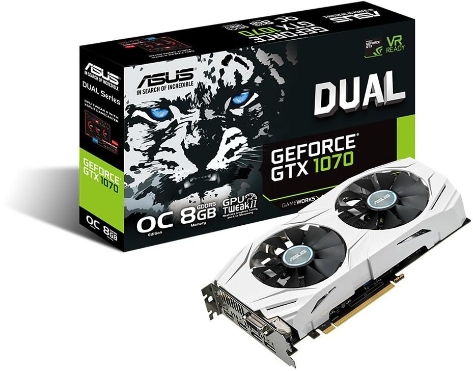 Asus DUAL-GTX1070-O8G Videokaart voor €234 @ PC Score