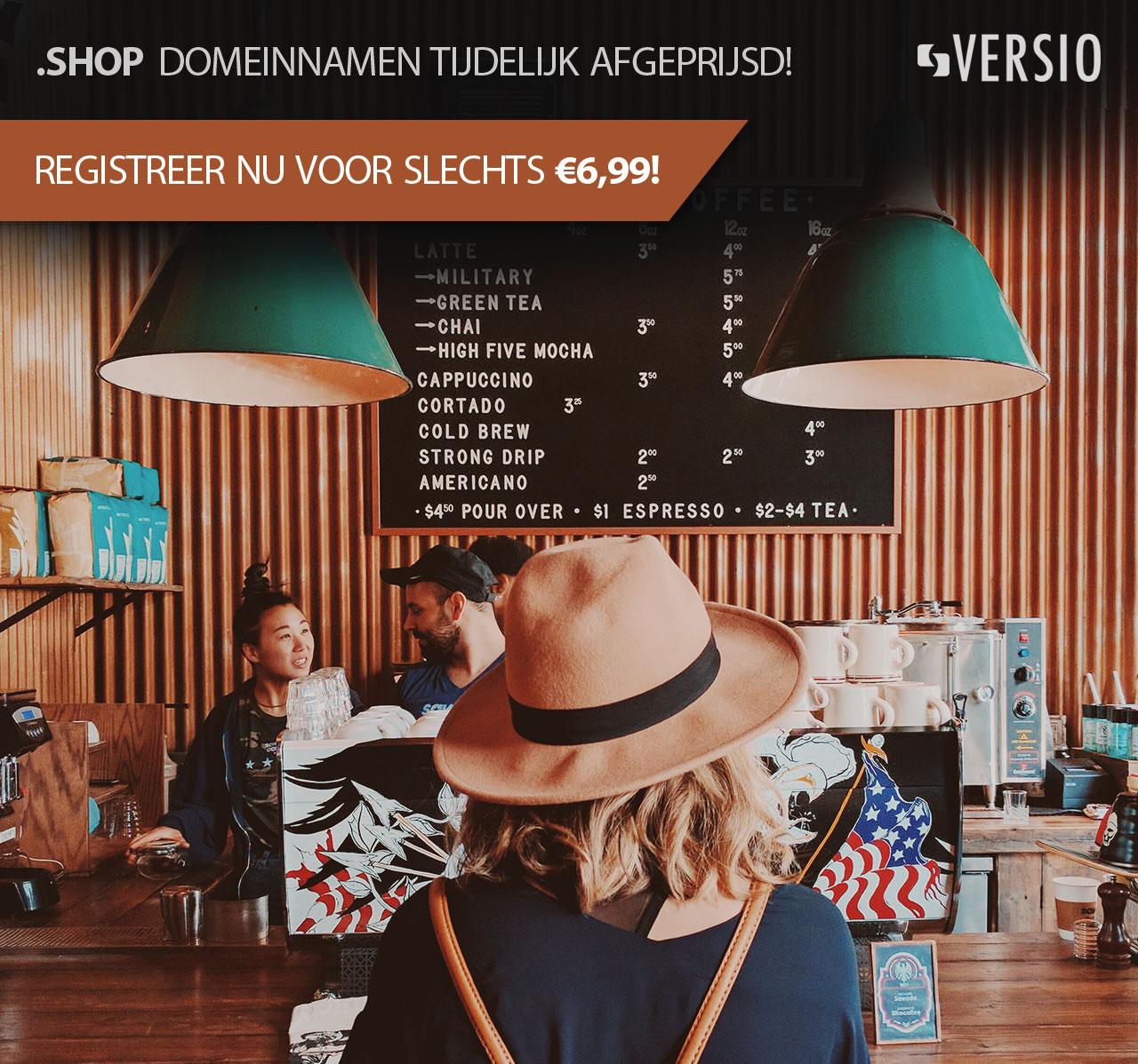 .Shop domein tijdelijk voor 6,99