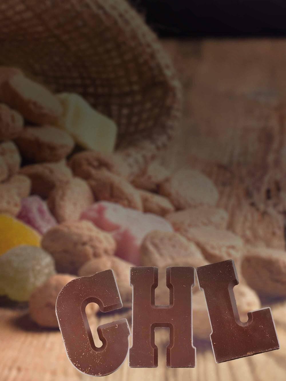 Geef Gratis een chocolade letter weg, met een eigen boodschap @ EO