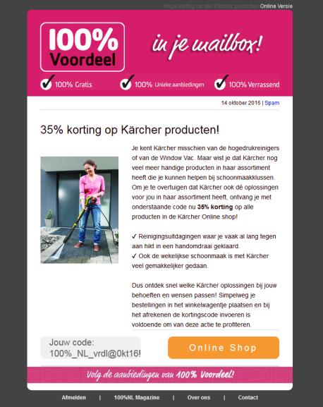 Krijg nu 35% korting op Kärcher producten.   [aktie werkt nog steeds!!!