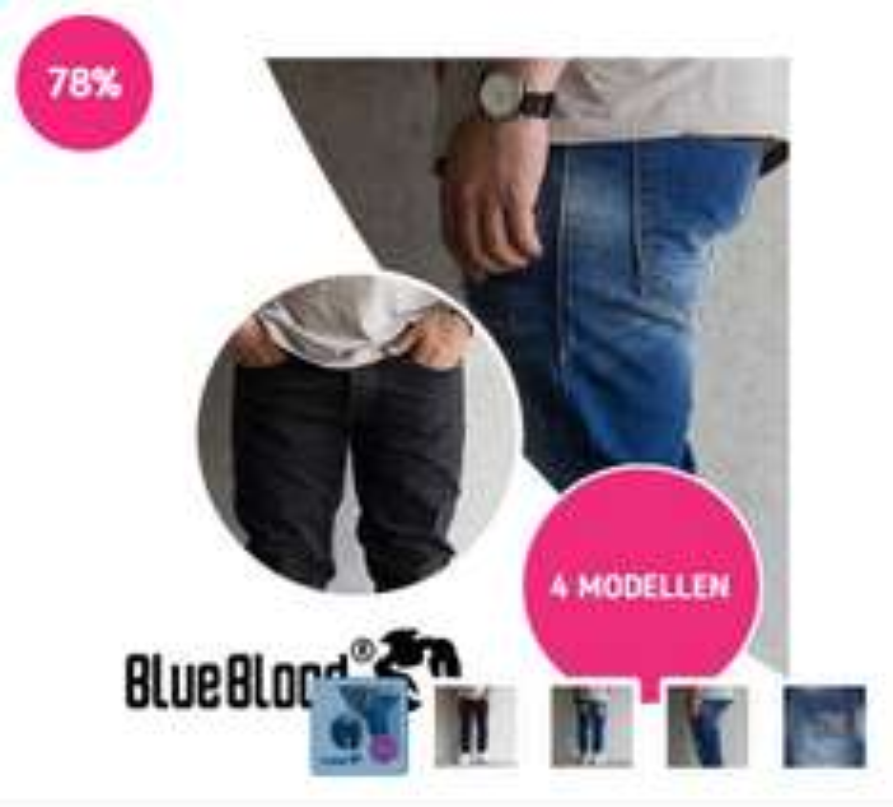 Blue Blood herenjeans - 4 modellen €39,95 @ Koopjedeal (ex verzenden à €4,95)