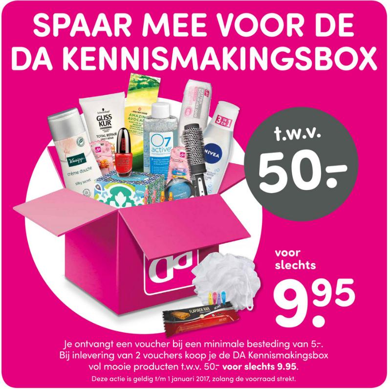 DA Drogist: Kennismakingsbox t.w.v 50 euro