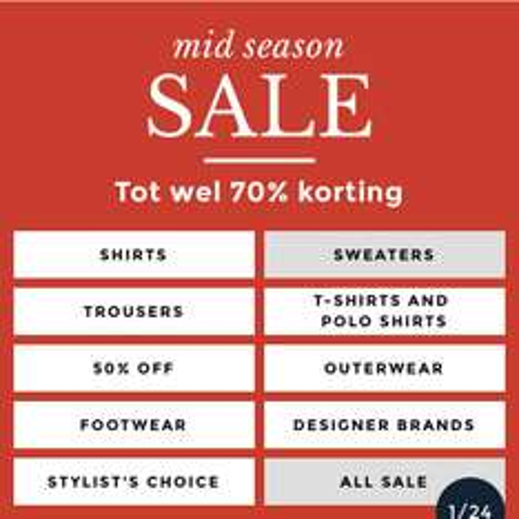 Tot 70% korting op kleding voor mannen @ NLY