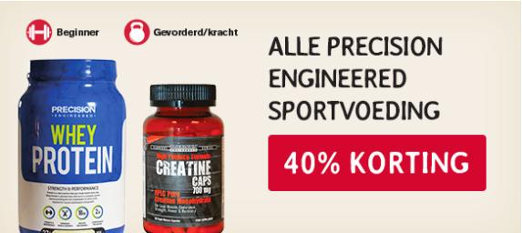 40% korting op Precision Engineered sportvoeding @ de Tuinen (Holland&Barrett) + gratis sportreep