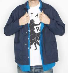 Parra nylon worker shirt  navy blue van 135 voor 39