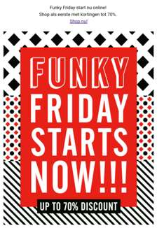 Tot 70% korting: Funky Friday starts now! The Sting