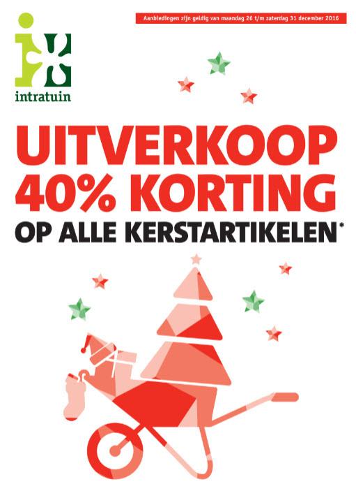 40% korting op alle kerstartikelen* @ Intratuin