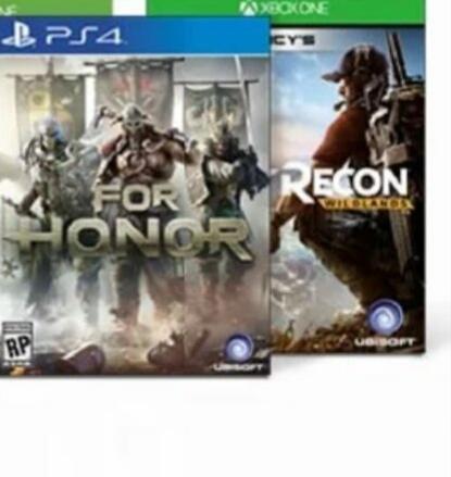 For Honor of Ghost Recon - Wildlands (PS4/ONE) voor €35,95 + 1.800 rentepunten @ ING