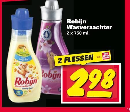 2 flessen robijn wasverzachter (alleen in de nettorama winkels)