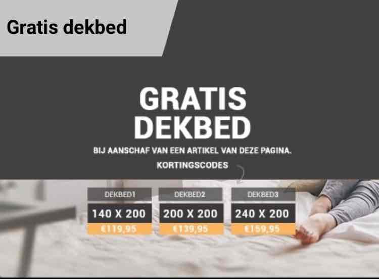 gratis dekbed bij besteding €22,50 dekbed discounter