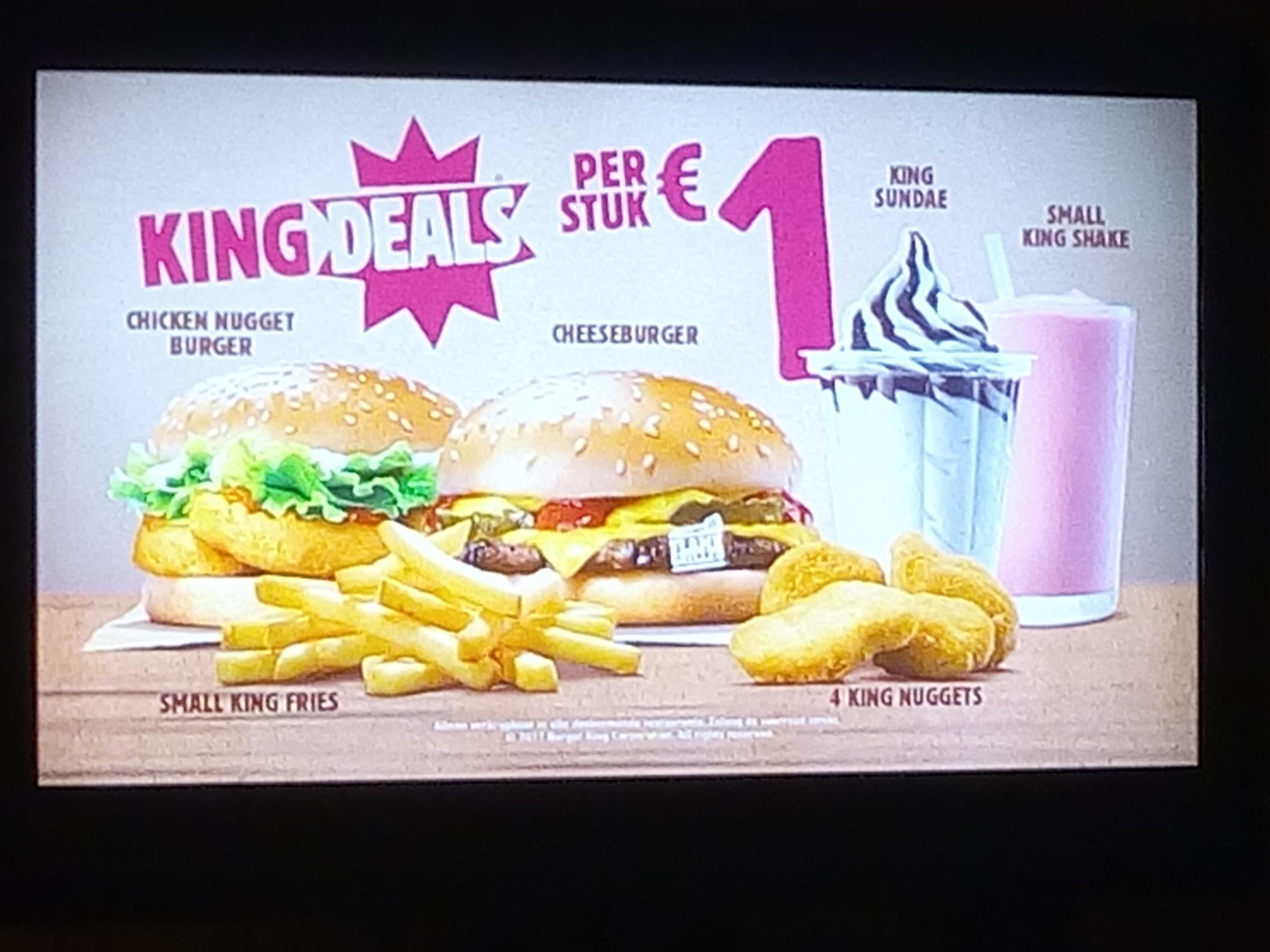 €1 Kingdeals Burgerking!