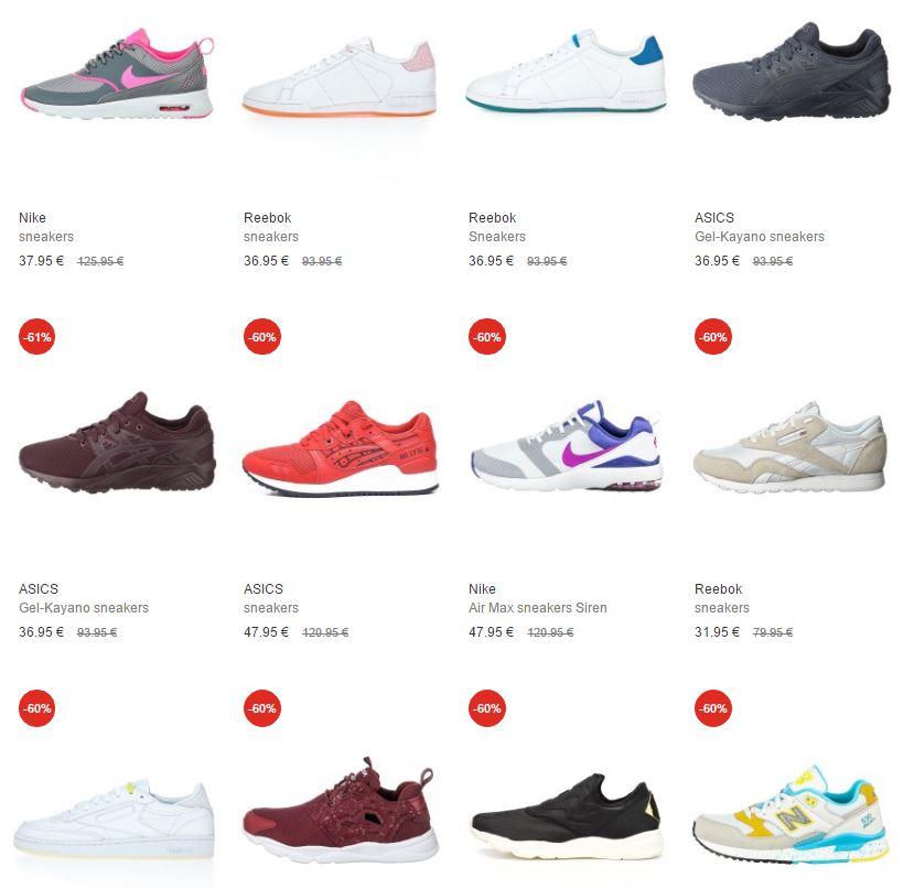 Veel sneakers (oa Nike en Adidas) met hoge korting (60-70%) @ Stylepit