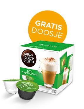 Gratis doosje Soy Cappuccino bij de eerste 2.000 bestellingen @