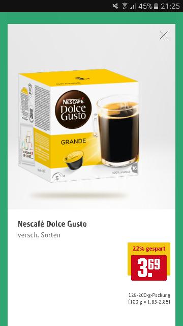 Nescafé Dolce Gusto capsules nu voor 3,69 per verpakking bij Rewe in Duitsland [grensdeal]