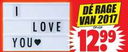 A4 Lightbox inclusief 85 karakters €12,99 @ Dirk / Dekamarkt