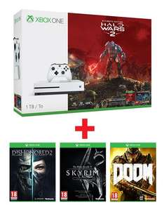 Xbox One S 1TB Halo Wars 2 Ultimate Edition + 3 Bethesda games voor €349 @ Game Mania