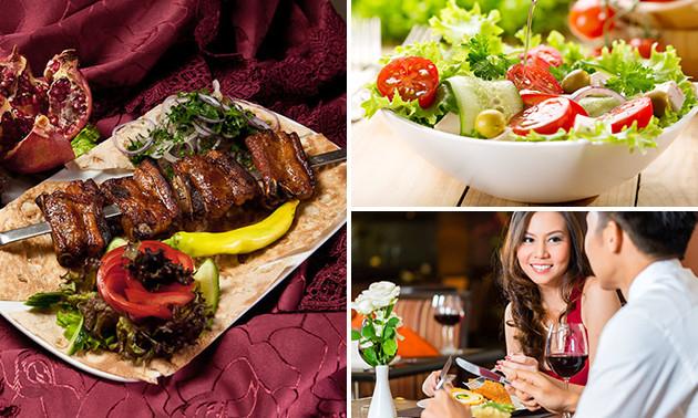 Grieks diner voor 2 personen bij Restaurant Poseidon @  Socialdeal