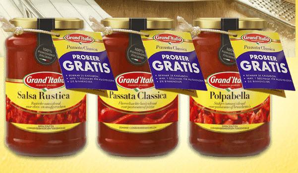 Probeer Gratis één van de Grand'Italia Tomaten basis producten