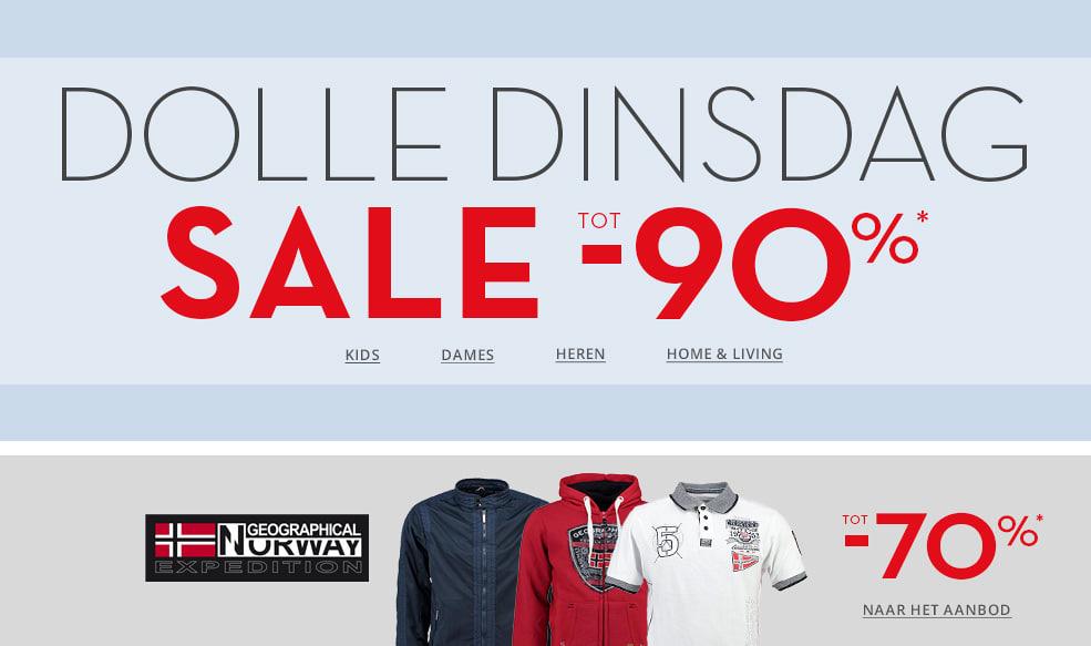 Outlet sale tot -90% + €10 extra met code (va €40) @ Limango