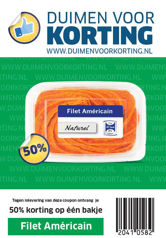 50% korting op één bakje Filet Américan @ Lidl