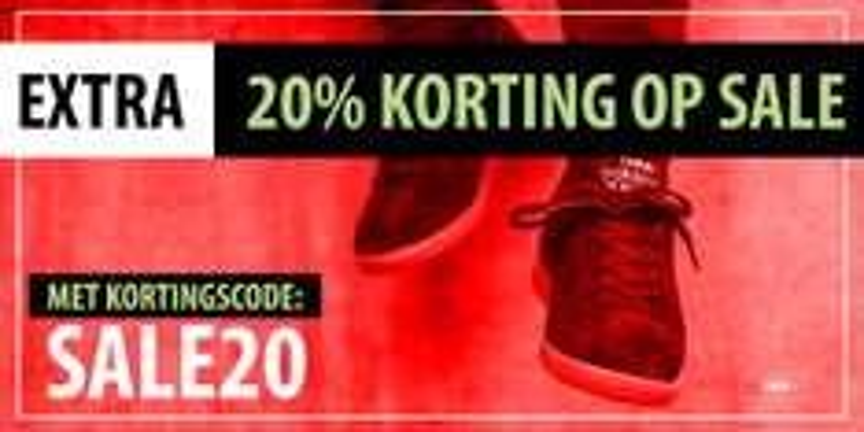 Alleen vandaag nog 20% extra korting op alle Sale @ Frontrunner