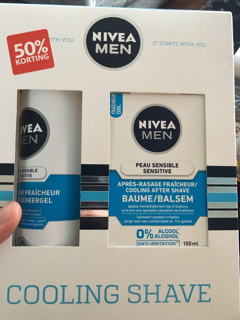 Nivea Men Cooling Shave geschenkset Etos €5,00