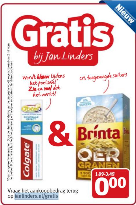 Gratis Colgate Total en/of Brinta Oergranen @ Jan Linders