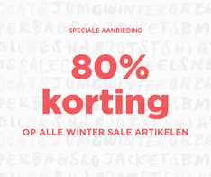 Alle wintersale - dames / heren / kids - 80% korting @ Mango Outlet