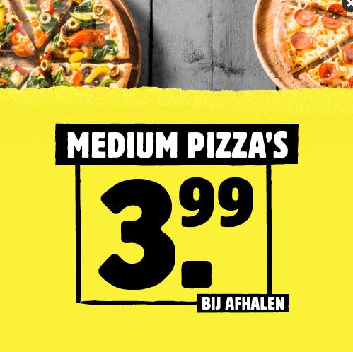 Online pizza's bestellen en afhalen, Domino's Soest: € 3,99