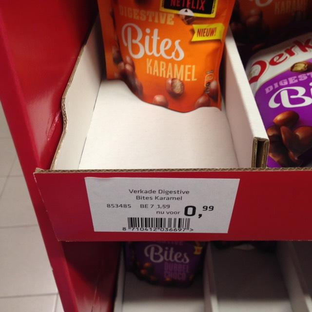Verkade Digestive Bites voor €0,99 @ AH