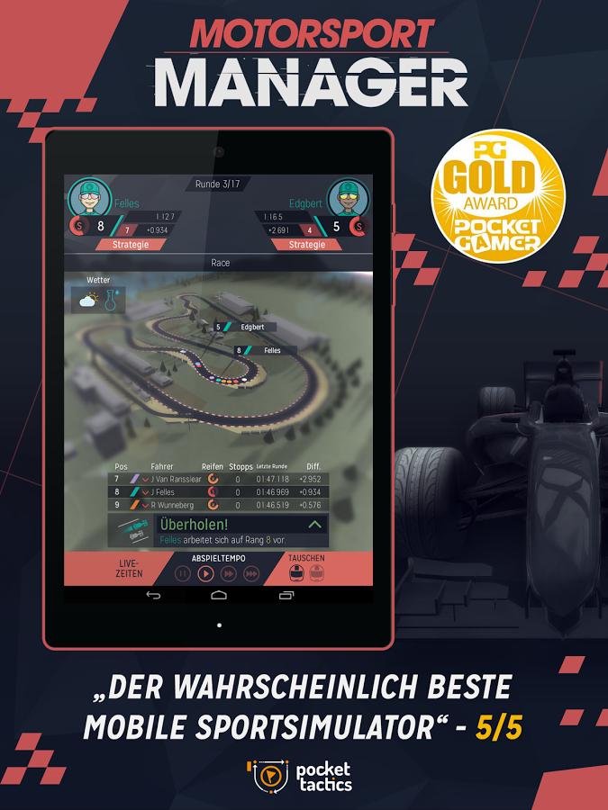Gratis Android game: Motorsport Manager van €2,59 -> €0