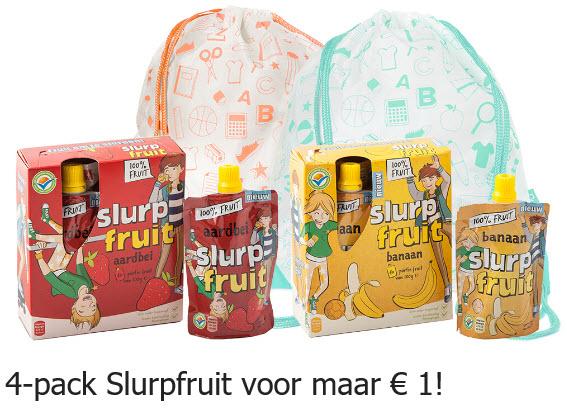 4-pack Slurpfruit voor maar € 1,00 @ via Scoupy