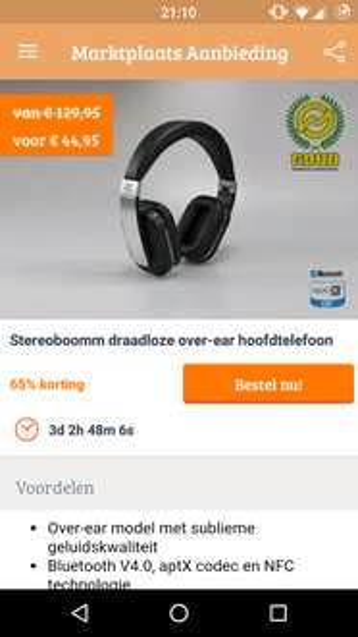 Stereoboomm HP600 draadloze over-ear hoofdtelefoon voor €49,99 @ Marktplaats