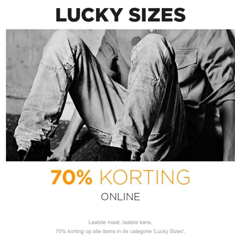 Outlet met 70% korting + 10% extra korting @ G-Star.com