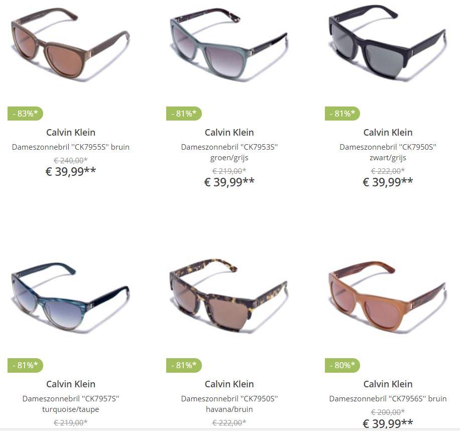 Calvin Klein en Carrera zonnebrillen 63-83% korting @ Limango
