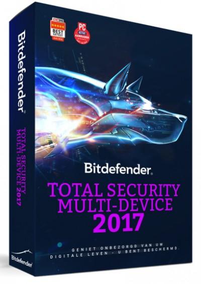 Bitdefender Total Security 2017 - 1 Jaar - 5 apparaten