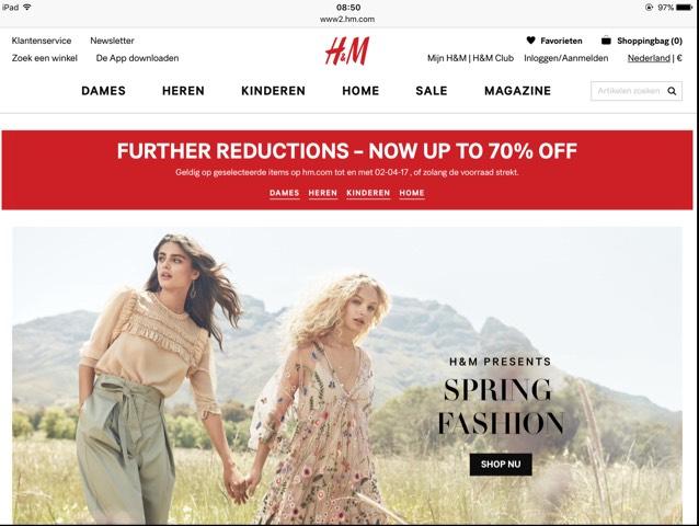 Nu hogere kortingen bij H&M (tot 70%)