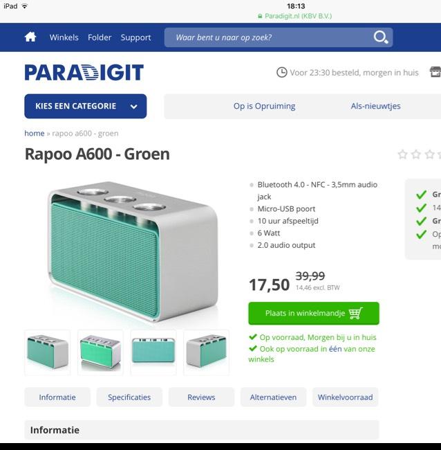 Rapoo A600 portable bluetooth speaker