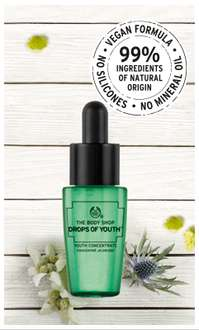 Gratis sample 'Drops of Youth Concentrate' @ The Body Shop