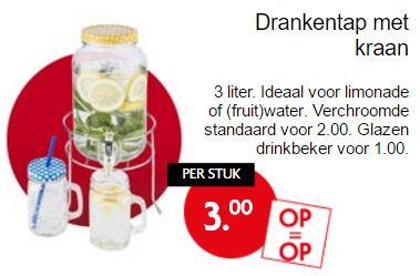 Glazen limonadetap €3 @ Dekamarkt / Dirk